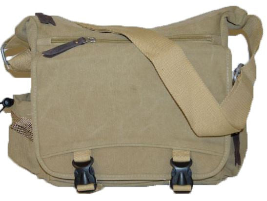 Lightweight Canvas Messenger Bag - Serbags  - 1