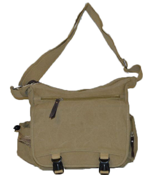 Lightweight Canvas Messenger Bag - Serbags  - 3