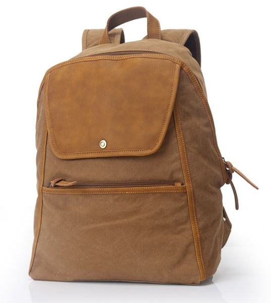 Large School Laptop Backpack Brown