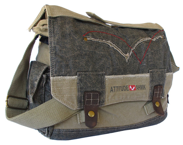 Cotton Laptop Shoulder Canvas Messenger Bag - Serbags  - 2