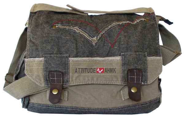 Cotton Laptop Shoulder Canvas Messenger Bag - Serbags  - 1