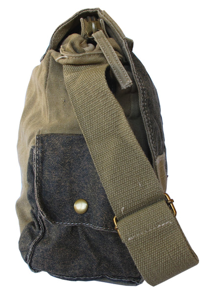 Cotton Laptop Shoulder Canvas Messenger Bag - Serbags  - 3