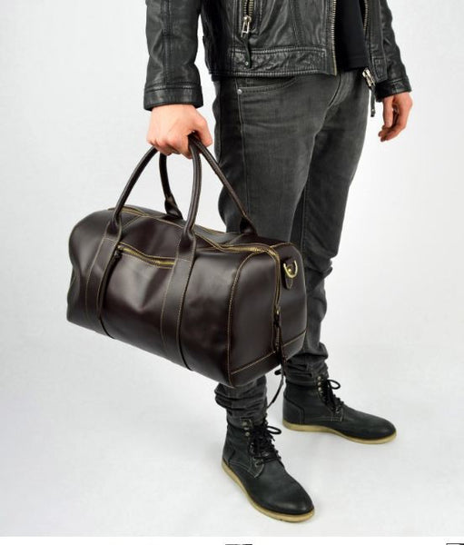 a408c10a73 Leather Weekend Bag