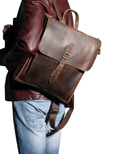 1606941e2350 Premium Leather Laptop Backpack