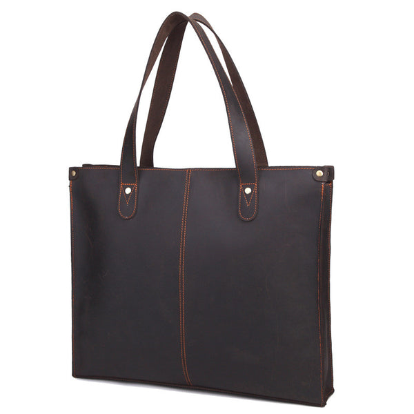 Men Large Leather Tote