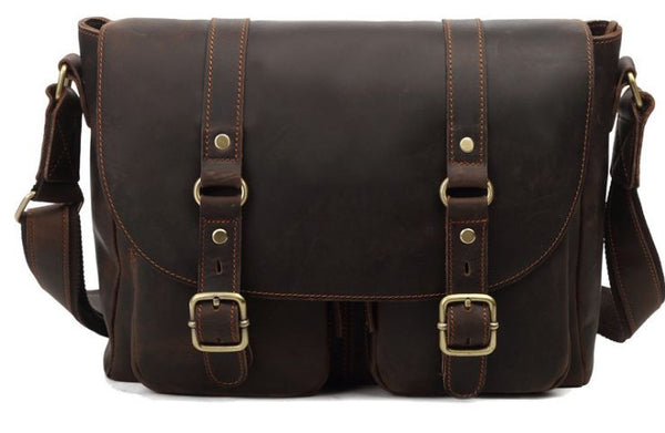 Leather Satchel Book Bag For Men