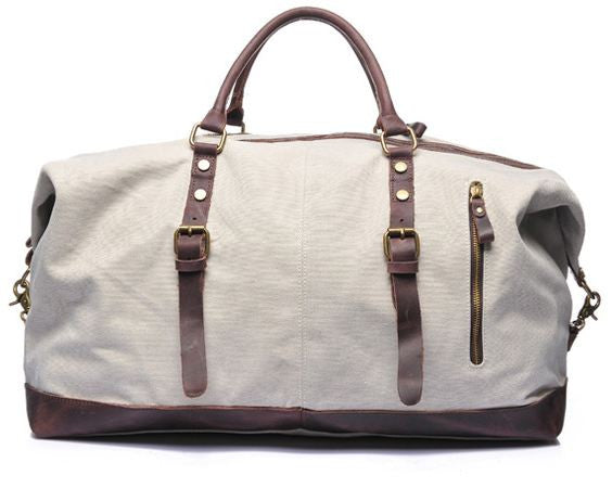 Men's Durable Canvas Duffel Bag Travel Weekender