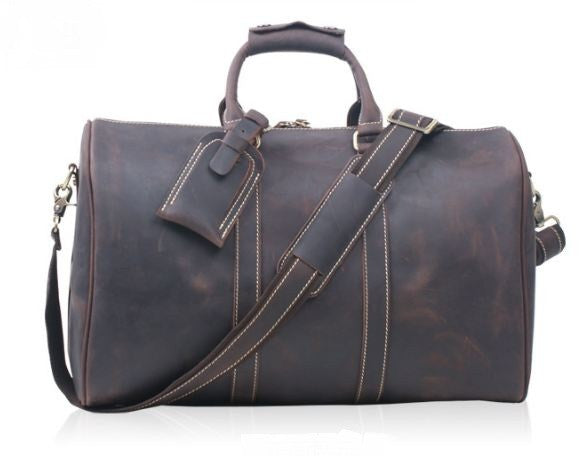 594154dd42f4 Men s Leather Holdall Weekender Travel Duffel Bag
