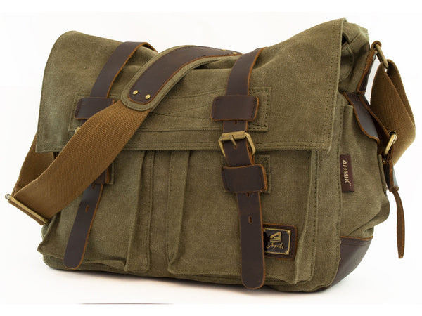 Military Rugged Canvas Messenger Bag - Serbags  - 3