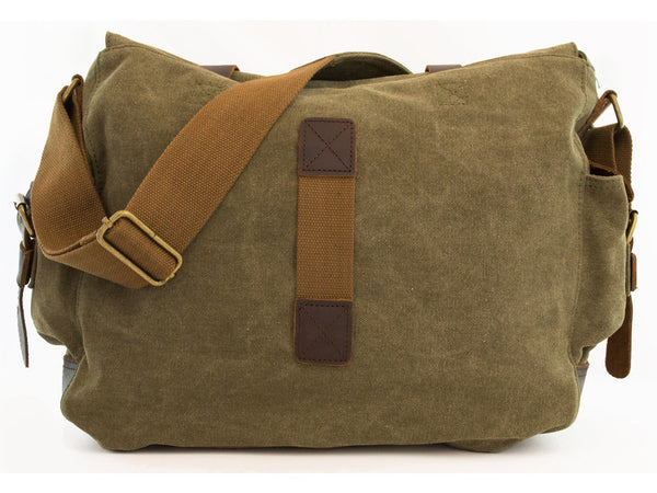 Military Rugged Canvas Messenger Bag - Serbags  - 6