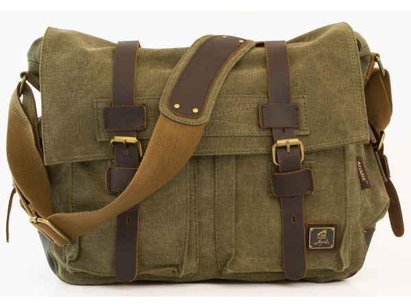 Military Rugged Canvas Messenger Bag - Serbags  - 2