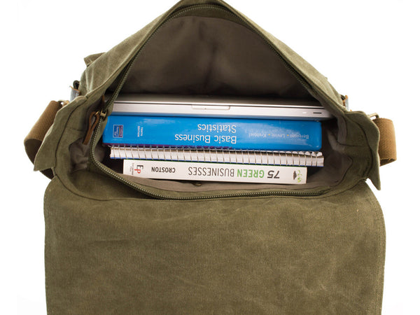 Military Rugged Canvas Messenger Bag - Serbags  - 5