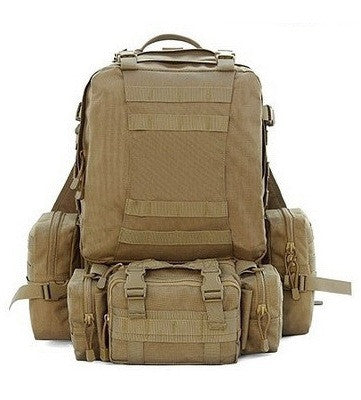 Front view of the Military Hunting Hiking Fishing Outdoor Waterproof backpack by Serbags