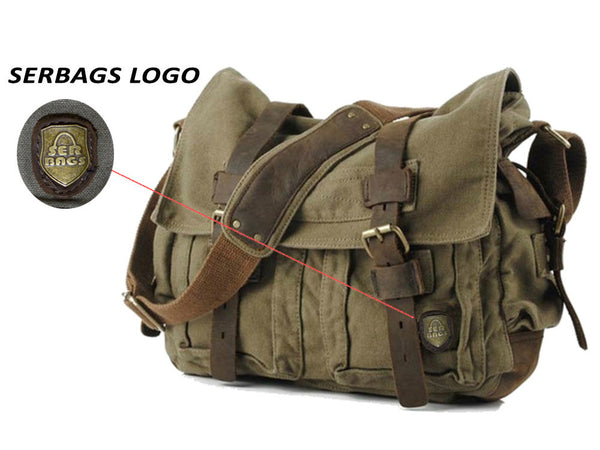 large military style messenger bag green haversack