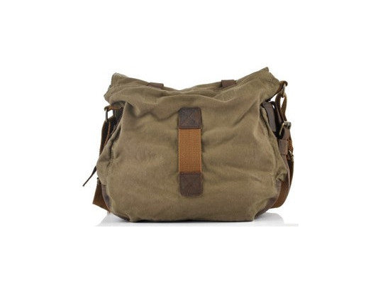 Military Canvas Messenger Bag Medium Size - Serbags  - 10