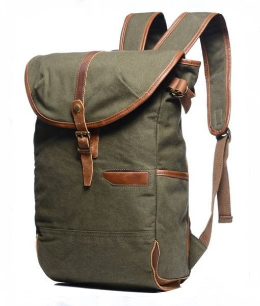 Army Green Casual Student Outdoor Laptop Backpack