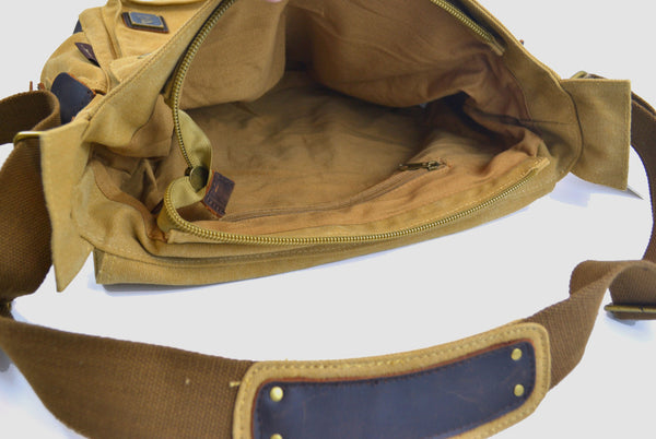 Vintage Canvas Military with Leather Trims - Serbags  - 8