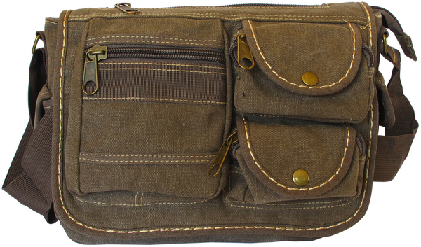 Multi-Pocket Vintage Messenger Bag - Serbags  - 1