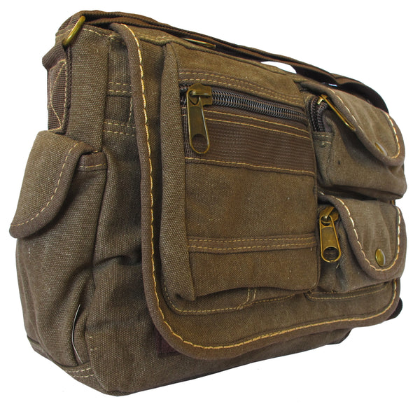 Multi-Pocket Vintage Messenger Bag - Serbags  - 2