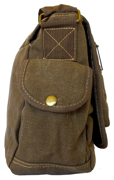 Multi-Pocket Vintage Messenger Bag - Serbags  - 3