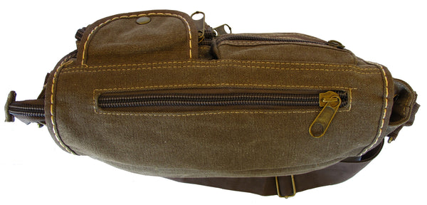 Multi-Pocket Vintage Messenger Bag - Serbags  - 5