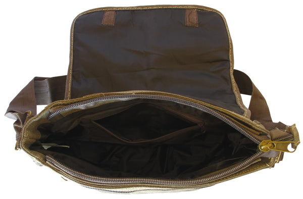 Multi-Pocket Vintage Messenger Bag - Serbags  - 6
