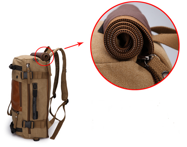 Multifunctional Weekender Convertible Outdoor Travel Canvas Backpack - Serbags  - 9