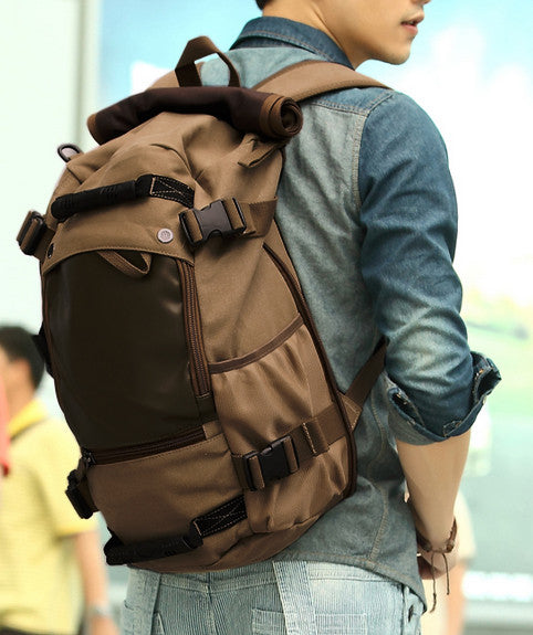 Multifunctional Weekender Convertible Outdoor Travel Canvas Backpack - Serbags  - 5