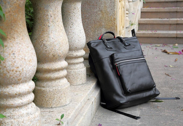 Urban Leather Computer Student Backpack
