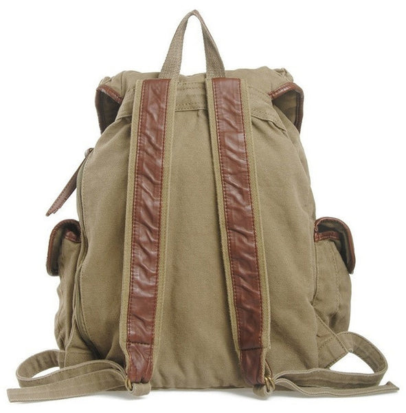 back view of the Serbags fashion canvas backpack