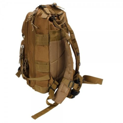 Outdoor Hiking School Backpack Brown Oxford Cloth Nylon - Serbags  - 7