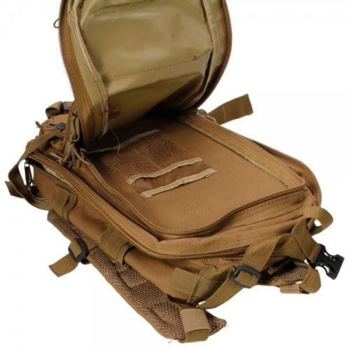Outdoor Hiking School Backpack Brown Oxford Cloth Nylon - Serbags  - 10