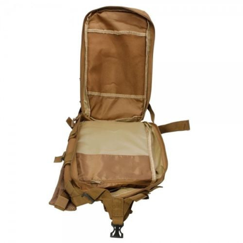 Outdoor Hiking School Backpack Brown Oxford Cloth Nylon - Serbags  - 11
