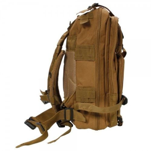 Outdoor Hiking School Backpack Brown Oxford Cloth Nylon - Serbags  - 6