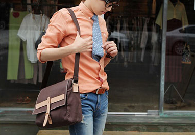 Preppy Cross Body Canvas Brown - Serbags  - 6
