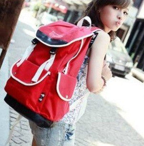 Cute Canvas Backpack for Girls - Red - Serbags  - 5