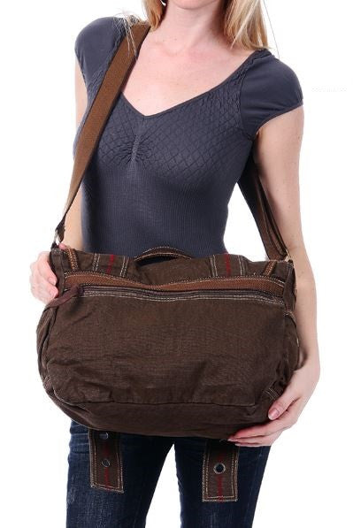 Retro Style Canvas Messenger Bag - Serbags  - 7