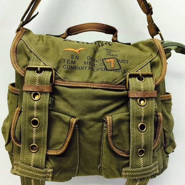 Retro Style Canvas Messenger Bag - Serbags  - 9