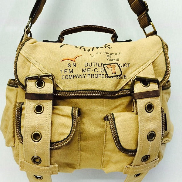 Retro Style Canvas Messenger Bag - Serbags  - 11