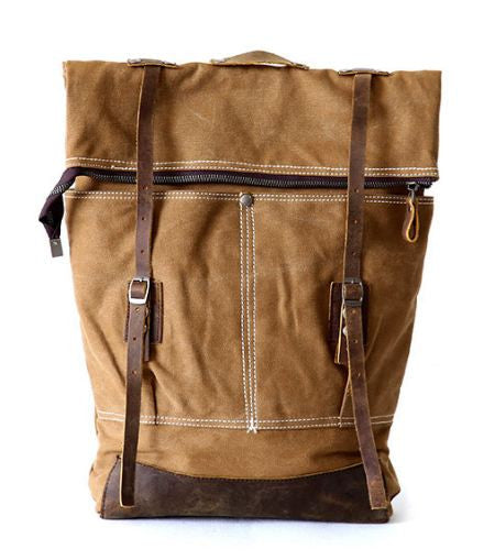 Retro Style Premium Canvas Rucksack Old-Fashioned
