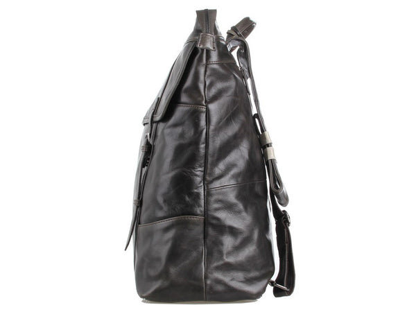 Side view - Selvaggio Genuine Leather Vintage Laptop Backpack - Serbags - 12