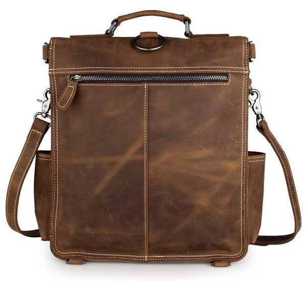Slim Leather Satchel & Backpack