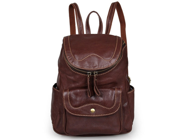 Soft Genuine Leather Travel Backpack