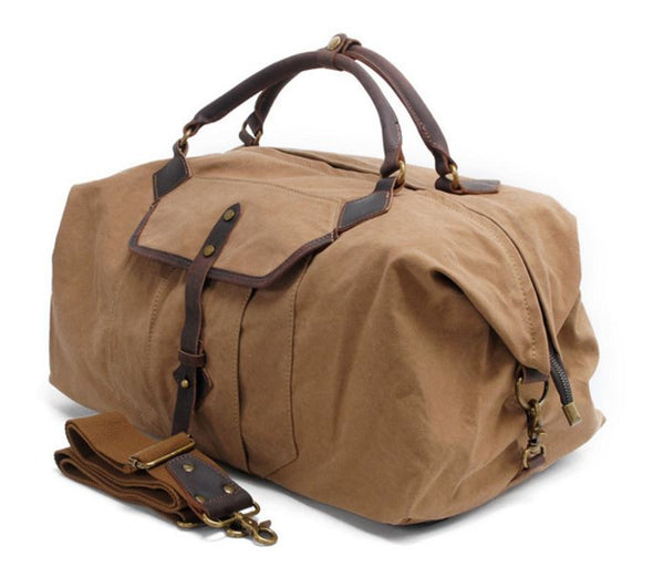 Workout Sports Overnight Canvas Duffel Bag