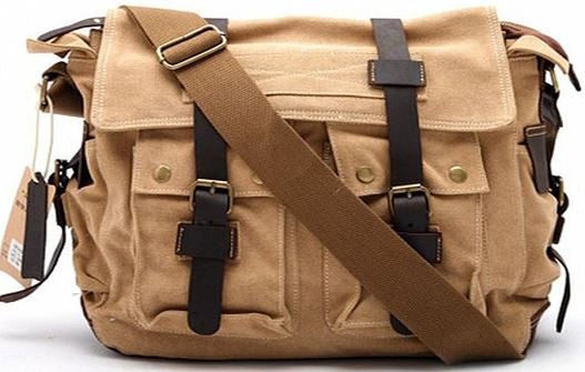 Vintage Canvas Military with Leather Trims - Serbags  - 1