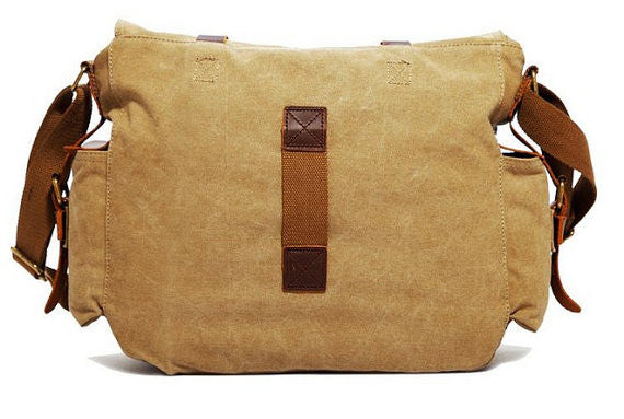 Vintage Canvas Military with Leather Trims - Serbags  - 7