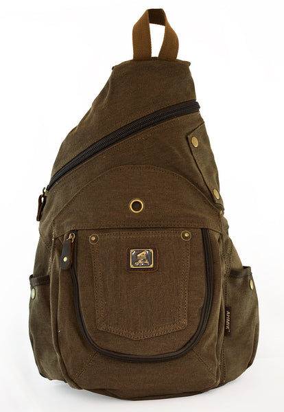 Vintage Sling Canvas Backpack 14