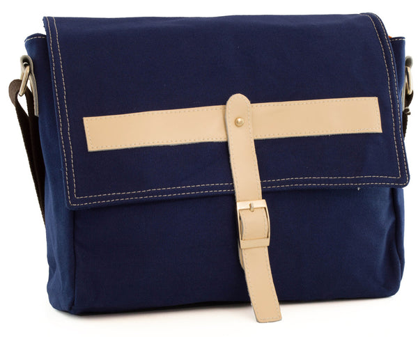 Preppy Cross Body Canvas Blue - Serbags  - 1