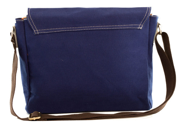 Preppy Cross Body Canvas Blue - Serbags  - 8