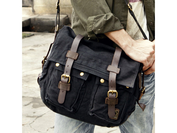 Heavy Duty Canvas Messenger Bag